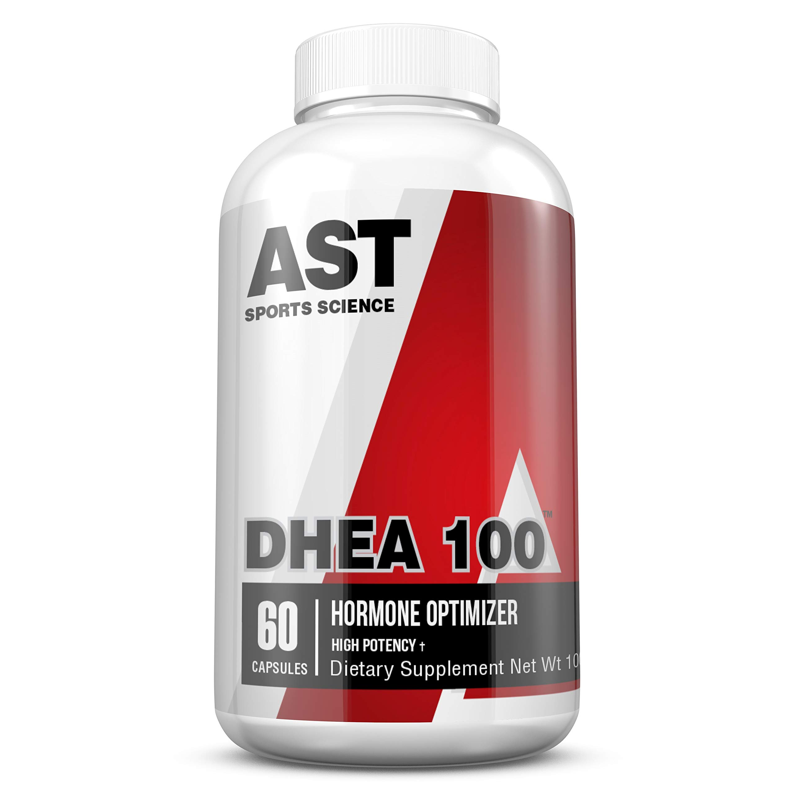 DHEA 100 - AST Sports Science 100mg per capsule - For Supporting Lean Muscle and Decreased Body Fat, Promoting Energy, and Supporting Healthy Aging in Both Men and Women. (1)