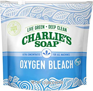 product image for Charlie's Soap Color Safe Chlorine Free Oxygen Bleach Powder, 1.3 lbs (0.59 kg)