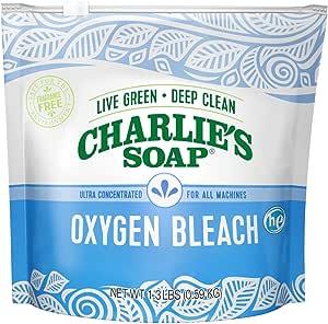 Charlie's Soap Color Safe Chlorine Free Oxygen Bleach Powder, 1.3 lbs (0.59 kg)