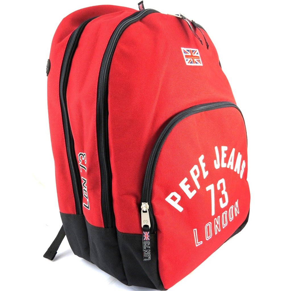 Amazon.com: Double backpack Pepe Jeansred (42x30x14.5 cm (0.00x11.81x5.71)) .: Clothing
