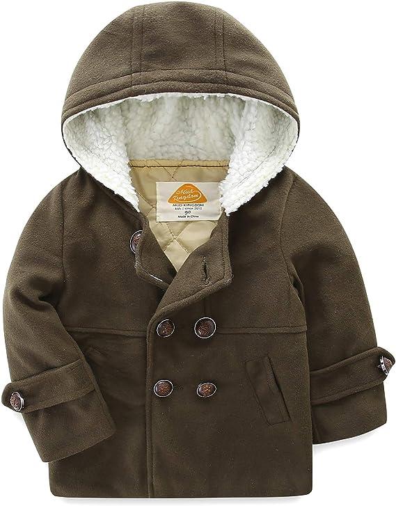 Mud Kingdom Boys Dress Coats with Hood Faux Wool Overcoat: Amazon.ca:  Clothing & Accessories