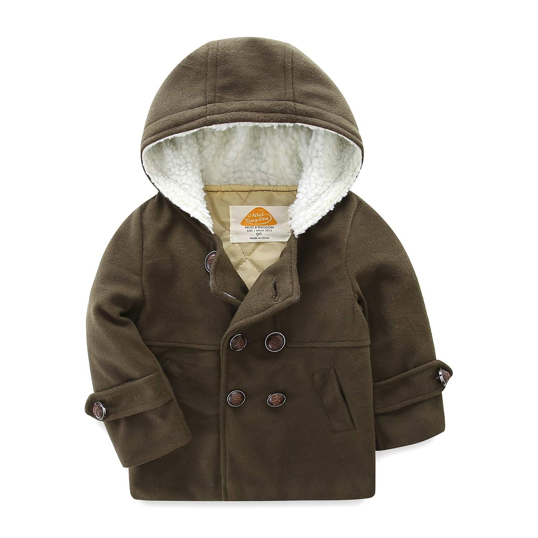 9189b9da1554 Amazon.com  Mud Kingdom Boys Dress Coats with Hood Faux Wool ...