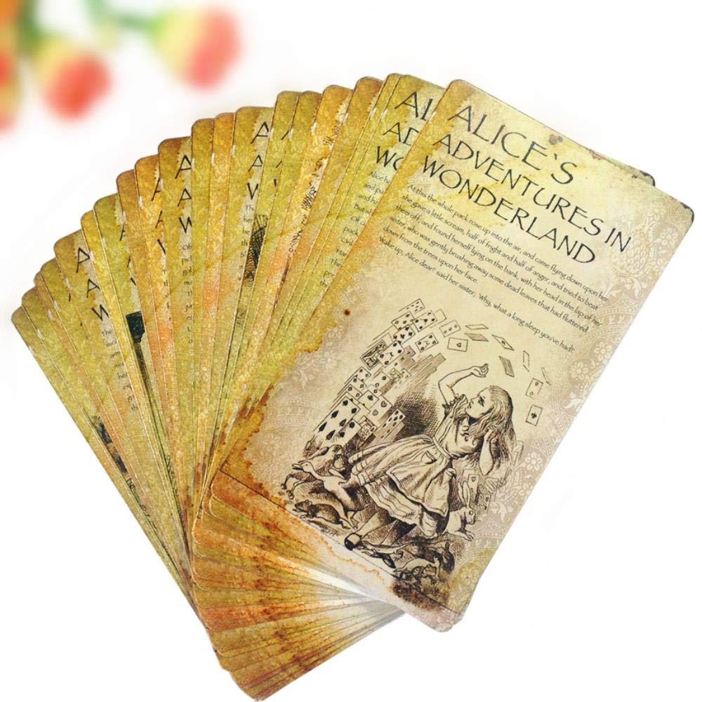 Yoin 20pcs Set///Cartoline da Cartolina nel Paese delle Meraviglie di Alice Cartoline Kawaii per Gli Studenti Segnalibro Fai-da-Te Carte Storia per Bambini