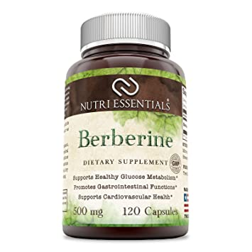 Amazon.com: Nutri Essentials Berberine 500 mg, 120 cápsulas ...