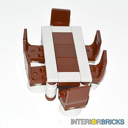 INTERIOR BRICKS Custom LEGO® Furniture: Dining Set With Table U0026 6 Seats