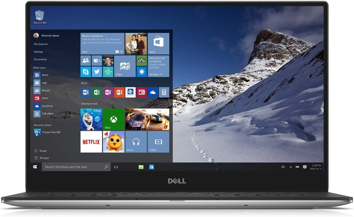 "Best Dell XPS13 Touch Ultrabook Computer With 13.3"" FHD WLED Backlit Infinity Touch Display, 5th Gen Intel i7-5500U Processor 3.0GHz / 8GB DDR3 Ram/ 512GB SSD Hard Drive/ Windows 10"