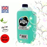 Bubble Machine Mix DR ZIGS 5 Litres of Best Professional Grade Solution for ALL Bubble Machines. High Performance and Long-Lasting Large Bubbles. Suitable for Performers, Entertainers, DJ's and Family Fun. Great for Parties Night Clubs Events and Home. Made to Secret Recipe. CE tested.