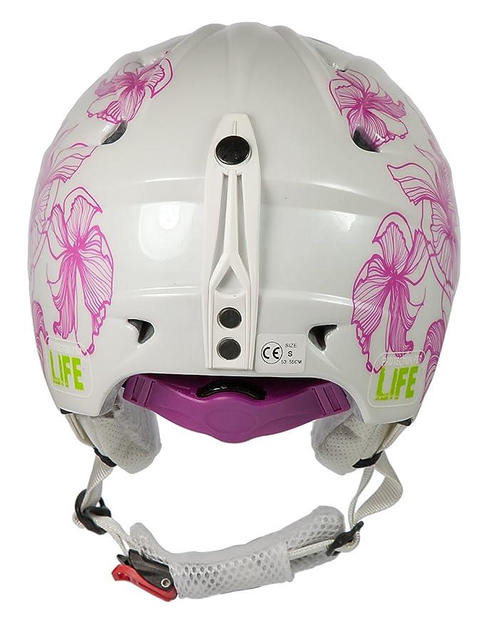 AWE® Casco de esquí para Damas adultas blanco/rosa, tamaño: 56-58cm: Amazon.es: Deportes y aire libre