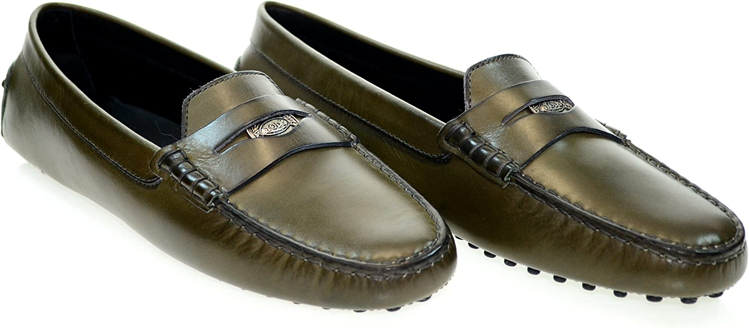 Heaven Penny Loafer Green Leather Sz 40