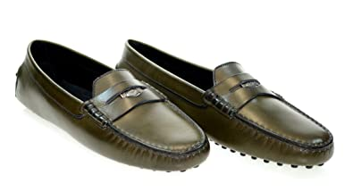 TODS J.P.Loafer Womens Heaven Penny Loafer Green Leather Sz 40 0D9AV615