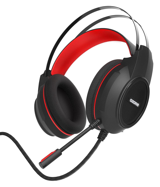 Ozone EKHO H30 Binaurale Diadema Negro, Rojo auricular con micrófono - Auriculares con micrófono (PC/Juegos, Binaurale, Diadema, Negro, Rojo, Alámbrico, ...