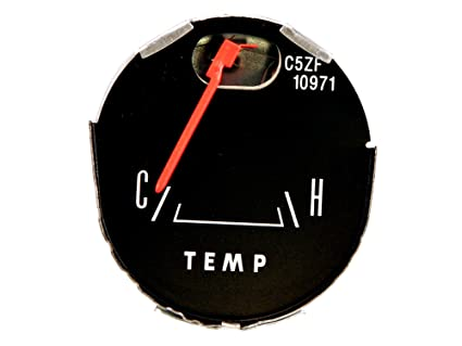 Mustang Temperature Gauge Late Style with Gauges 1965-1966 Scott Drake