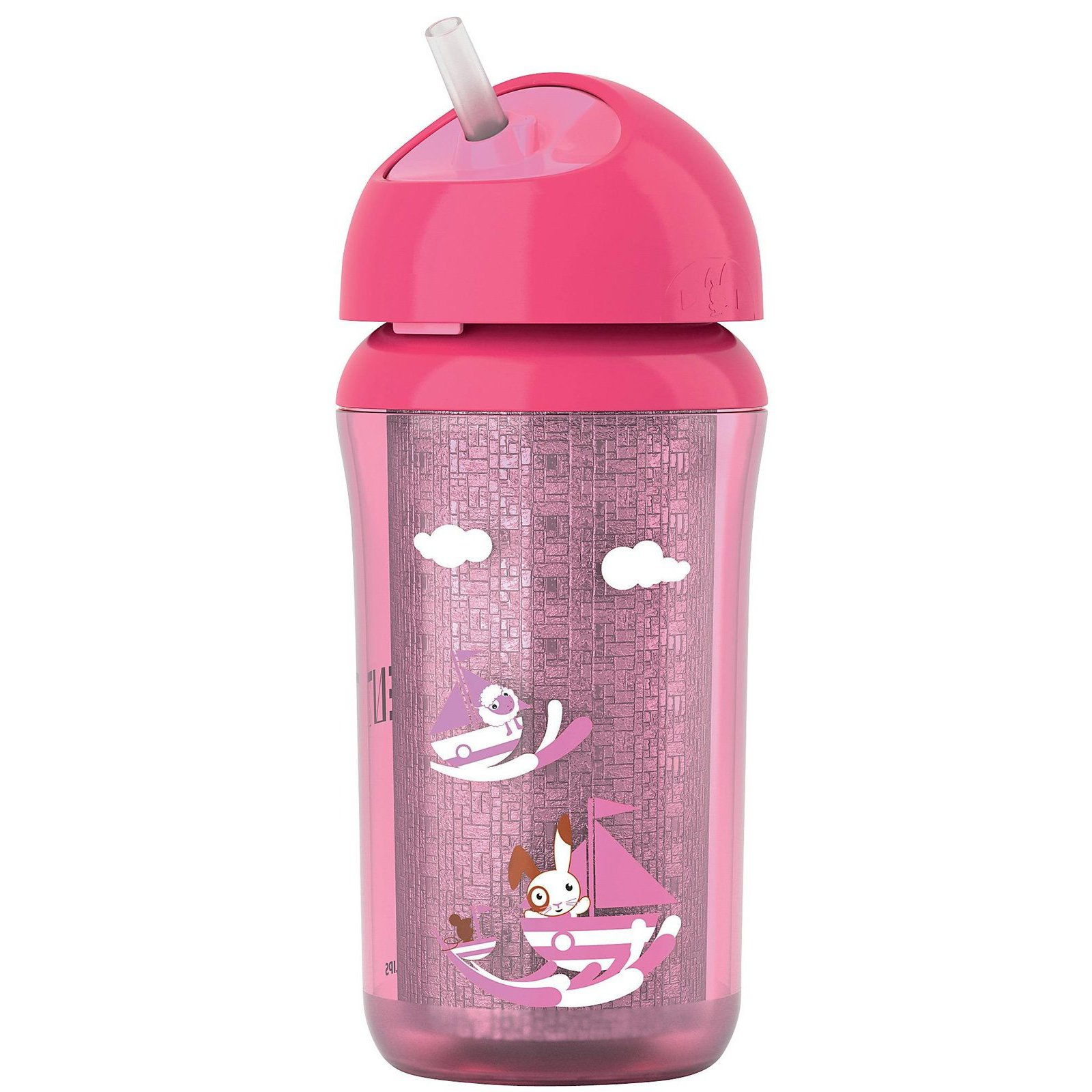 Avent Insulated Straw Cup - Pink - 9 oz