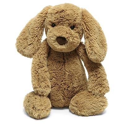 Jellycat Bashful Toffee Puppy Stuffed Animal, Medium, 12 inches: Toys & Games