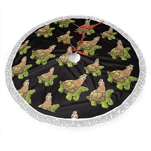WETG Sloth - Falda de árbol de Navidad para decoración de Navidad ...