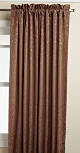 LORRAINE HOME FASHIONS Whitfield 52-inch by 72-inch Window Panel, Chocolate
