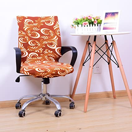 Miraculous Yiwant Stretch Removable Washable Office Chair Cover Protector Seat Slipcover For Low Back Computer Chair Swivel Chair Adjustable Chair Desk Beatyapartments Chair Design Images Beatyapartmentscom