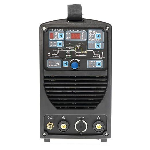 Soldador Inverter TIG IPOTOOLS SUPERTIG 200DI TIG Maquina de Soldar AC DC Unidad de Soldadura con 200 amperios totalmente digital con encendido HF, ...