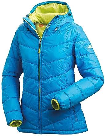 best loved 9e0f2 9ac4c Nordcap Damen Jacke in Daunenoptik, warme Steppjacke in Blau, tolle  Übergangs- & Winterjacke, 100% Wattierung (Gr: 36 - 50)