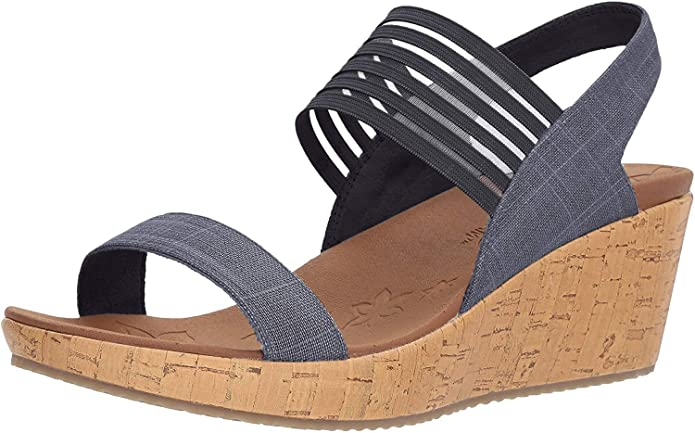 Womens Skechers Beverlee Smitten Kitten Wedge Sandal
