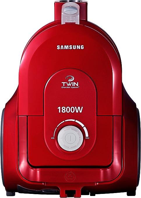 Samsung SC-4355B - Aspiradora sin bolsa (1800 W, sistema de cámara doble, filtro HEPA), color rojo: Amazon.es: Hogar