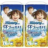 【ケース販売】ムーニーマン 汗スッキリ パンツ L(9~14kg) 84枚 (42枚×2)