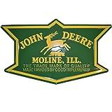 John Deere Metal 1912 Logo Embossed Sign Green