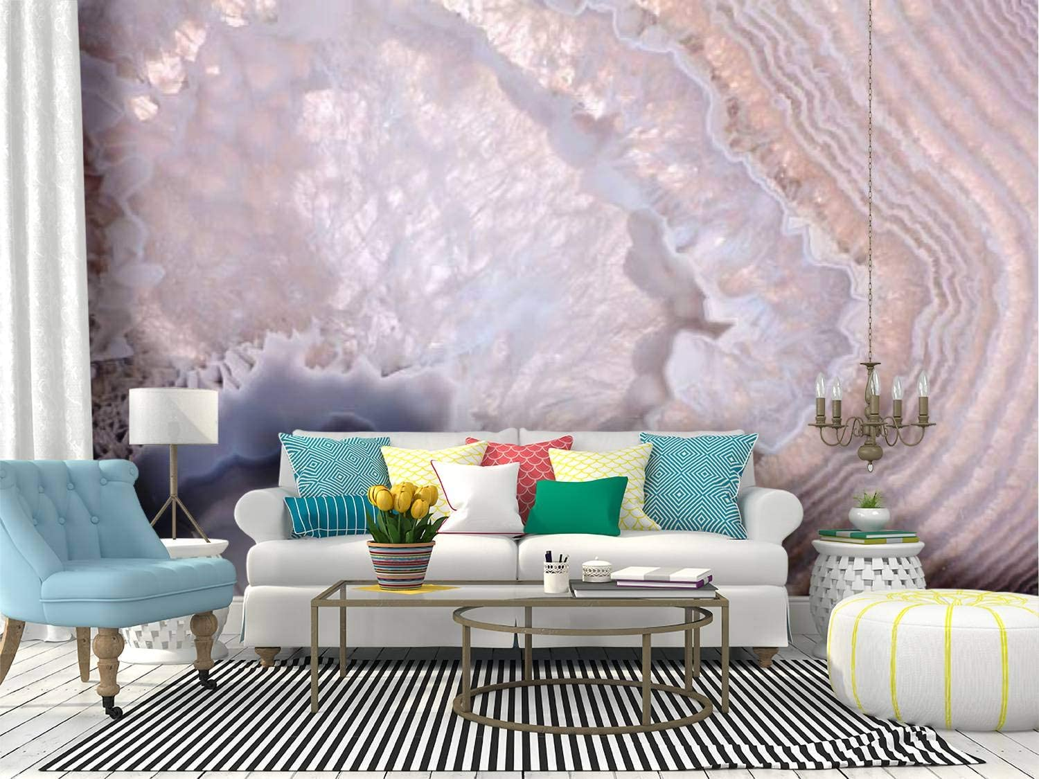 Amazon Com Wall Mural Waves In Grey Agate Structure Abstract Nature Backgrounds And Peel And Stick Wallpaper Self Adhesive Wallpaper Large Wall Sticker Removable Vinyl Film Roll Shelf Paper Home Decor Kitchen
