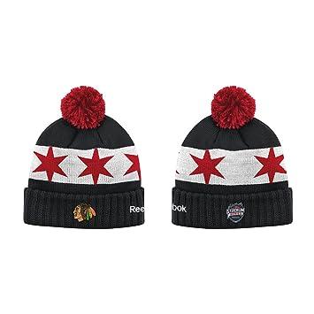 reebok hat. nhl 2016 stadium series reebok cuffed knit hat with pom