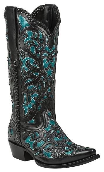 Amazon.com | Black Star WEBB (Turquoise) Women's Cowboy Boots | Boots