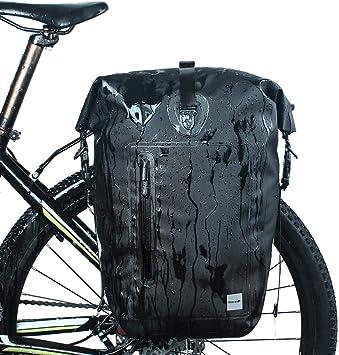 Alforjas Bicicleta Trasera Impermeable Alforjas Bicicleta Impermeable Bicicleta Accesorios Ciclismo Bolsa Accesorios de Bicicleta Black,Free Size: Amazon.es: Deportes y aire libre
