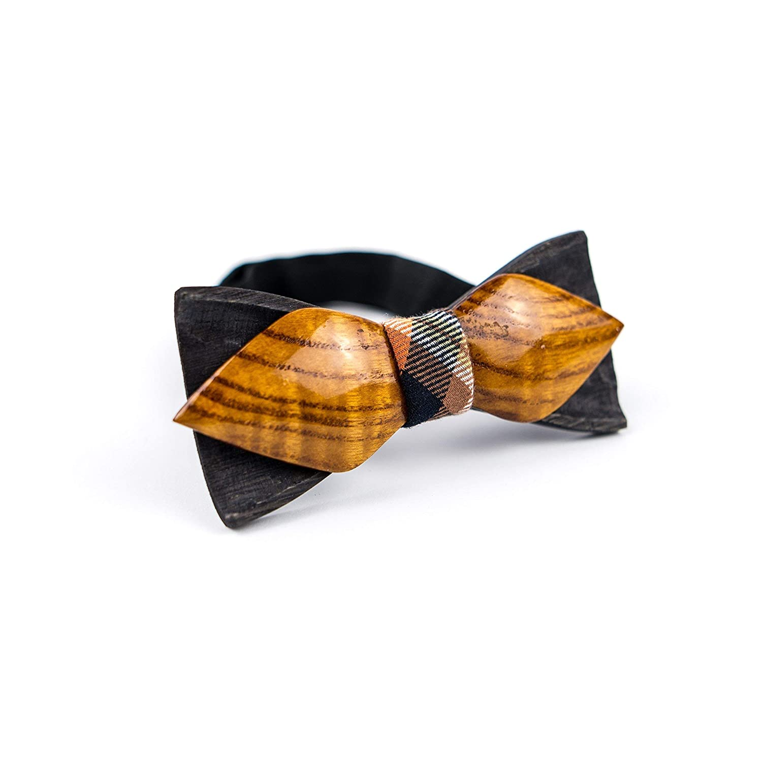 15dc2d6ac582 Amazon.com: Dual Wooden Bow Tie For Men Handmade Wood Bowtie Wedding  Accessory: Handmade