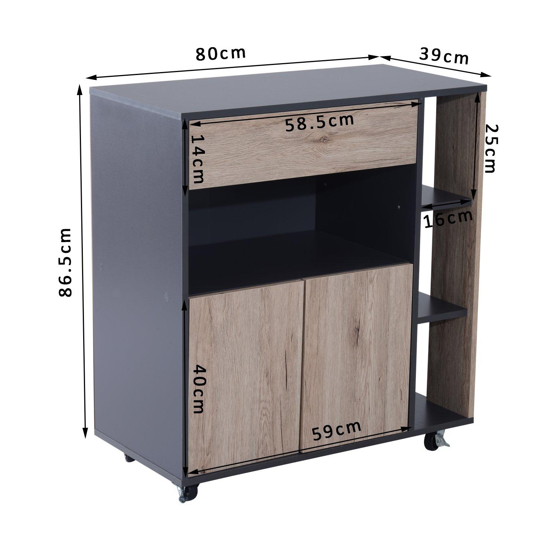 Mobiletti cucina perfect mobiletto cassettiera basso bianco cassetti legno camera cucina - Mobiletto cucina amazon ...