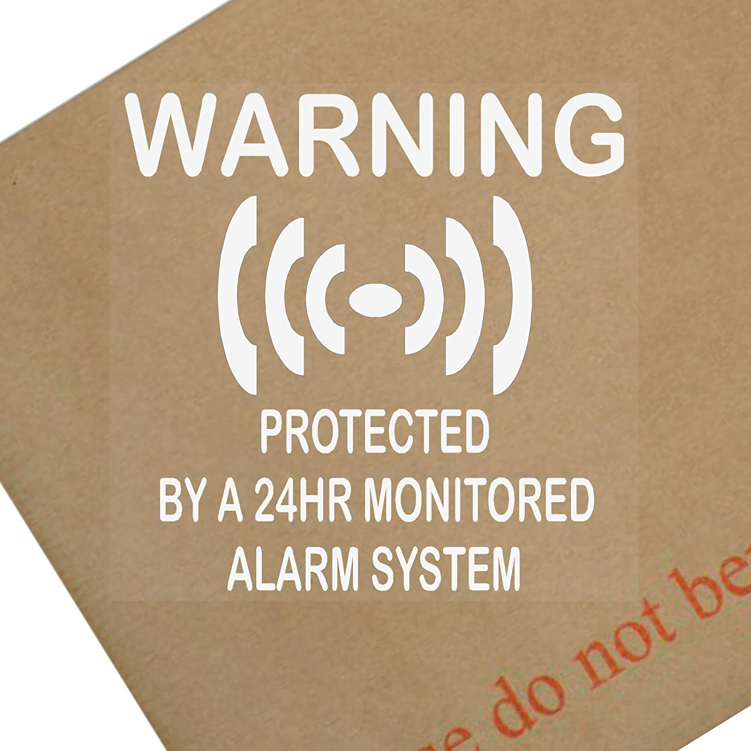 6 x Protected by a 24hr Monitored Alarm System Stickers for Windows-Security Warning Signs for House, Flat, Business,Office,Shop,Property-Self Adhesive Vinyl Sign Platinum Place