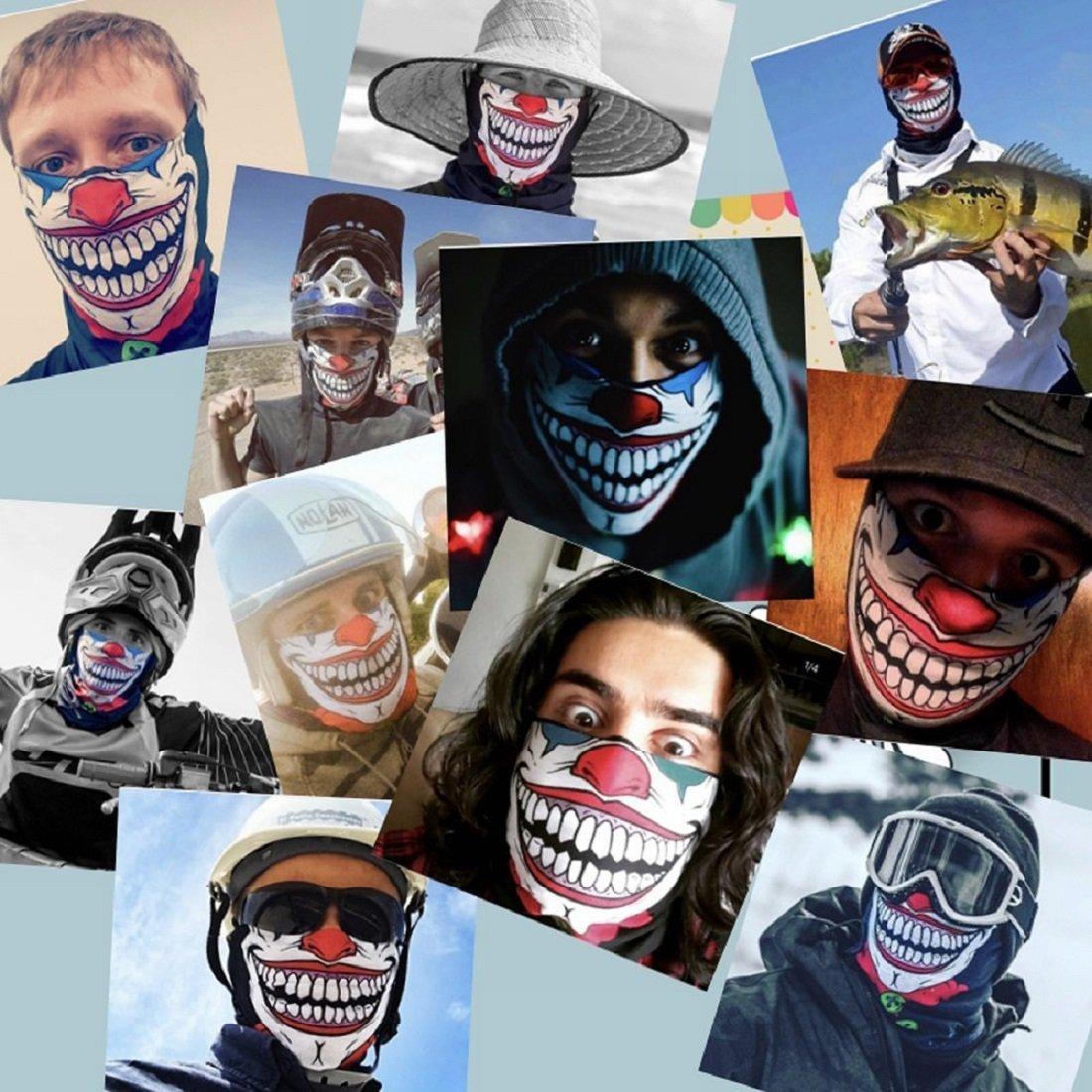 Toplor Moisture wicking Bandana - Motorcycle Face Mask - Face Shield Fiber Skull Mask Half Face Mask (AC-140)