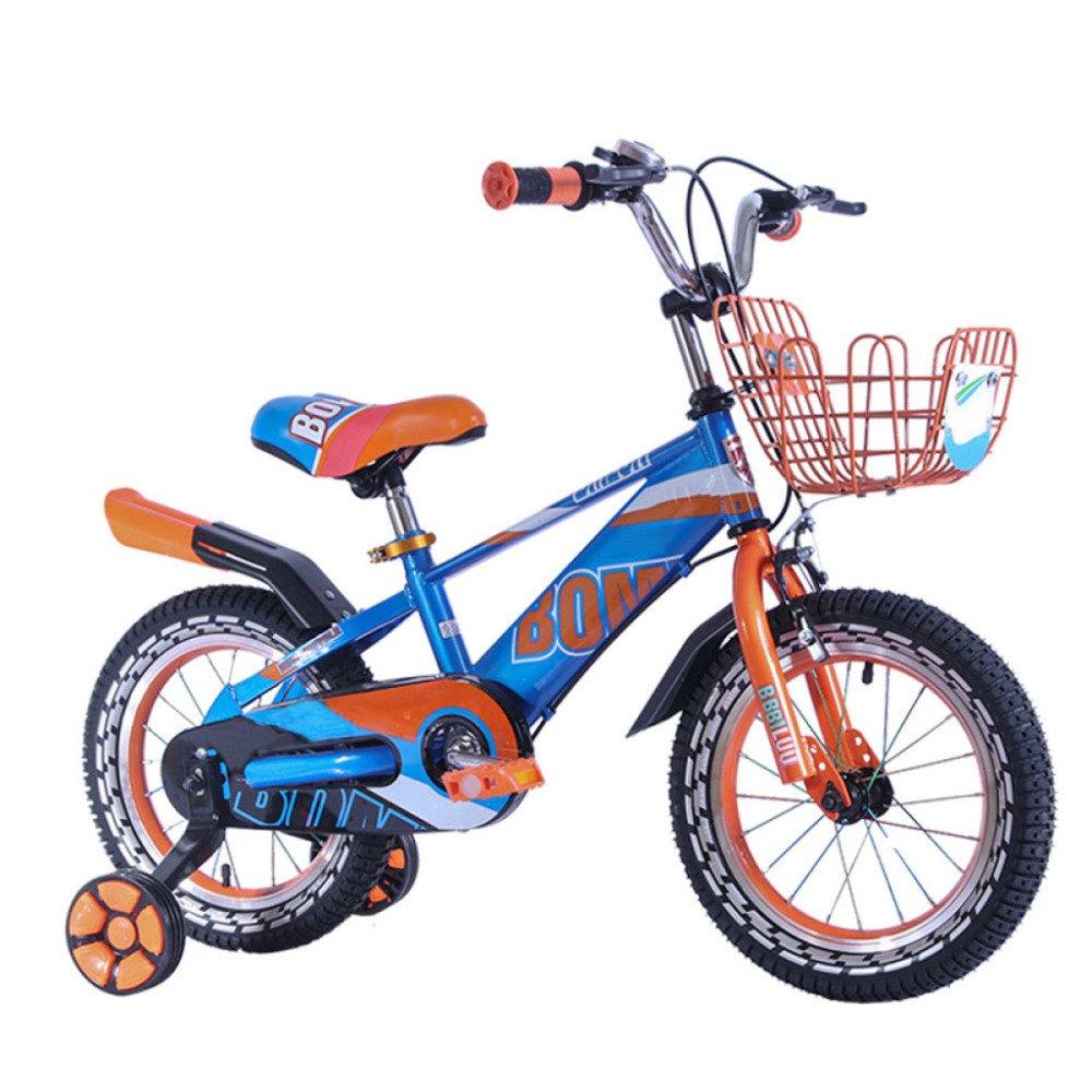 FAHBN Bicicletta di Sicurezza Premium per Bambini 12,14,16,18 Pollici per Ragazzi Bicicletta per Bambini Bicicletta per Bambini,blu-12Inches