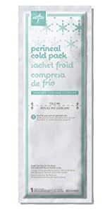 """Medline MDS138055 Standard Perineal Cold Packs, 4.5"""" x 14.25"""", Pack of 24, Green"""