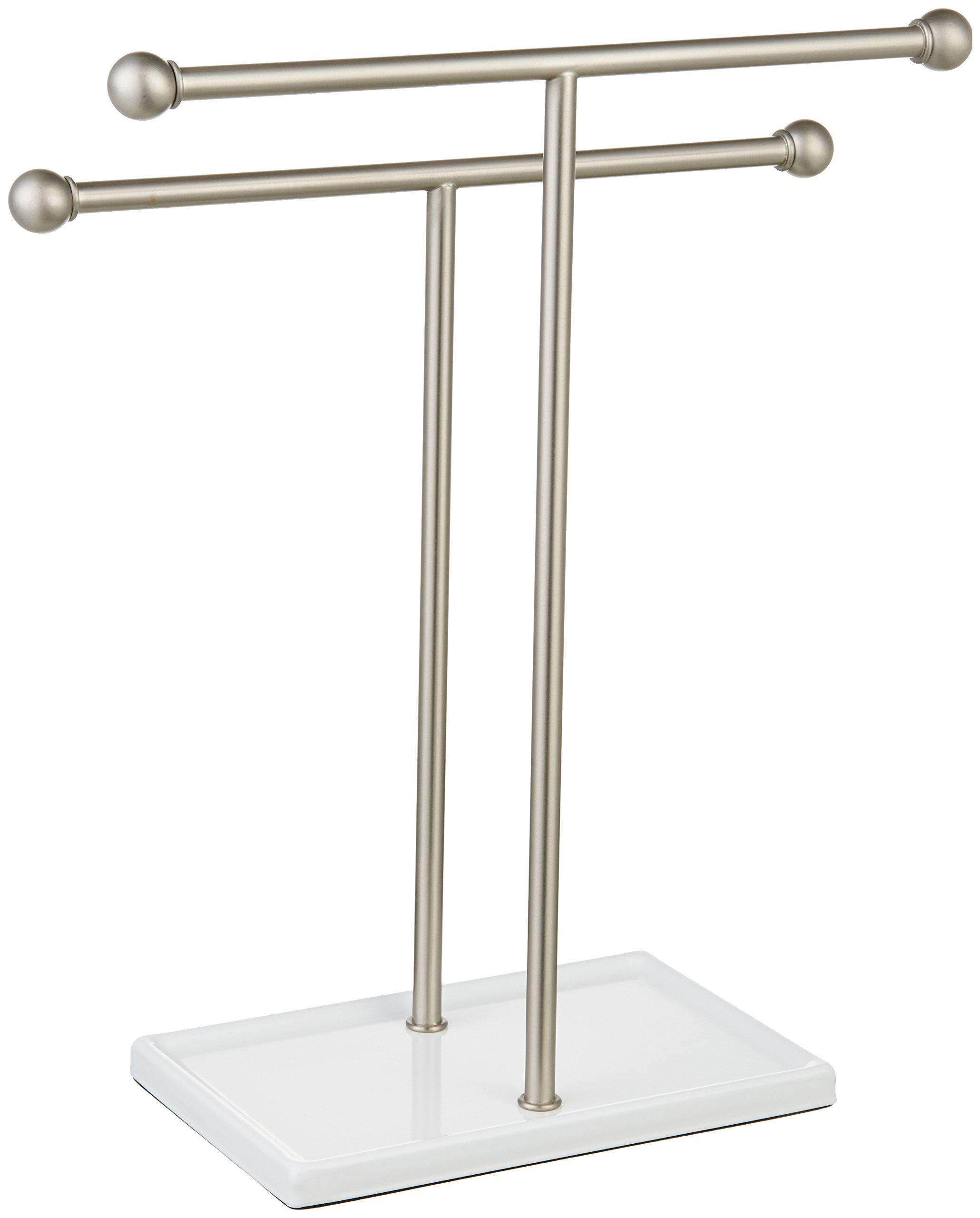 AmazonBasics Double-T Hand Towel Stand - chrome