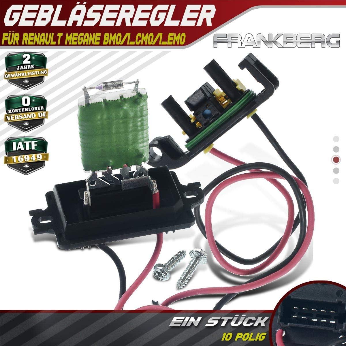 Regulador de resistencia para Megane II BM0/1 CM0/1 EM0/1 KM0/1 ...