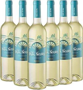 Pata Negra Sauvignon Blanc Vino Blanco D.O Rueda - Pack de 6 Botellas x 750 ml: Amazon.es: Alimentación y bebidas