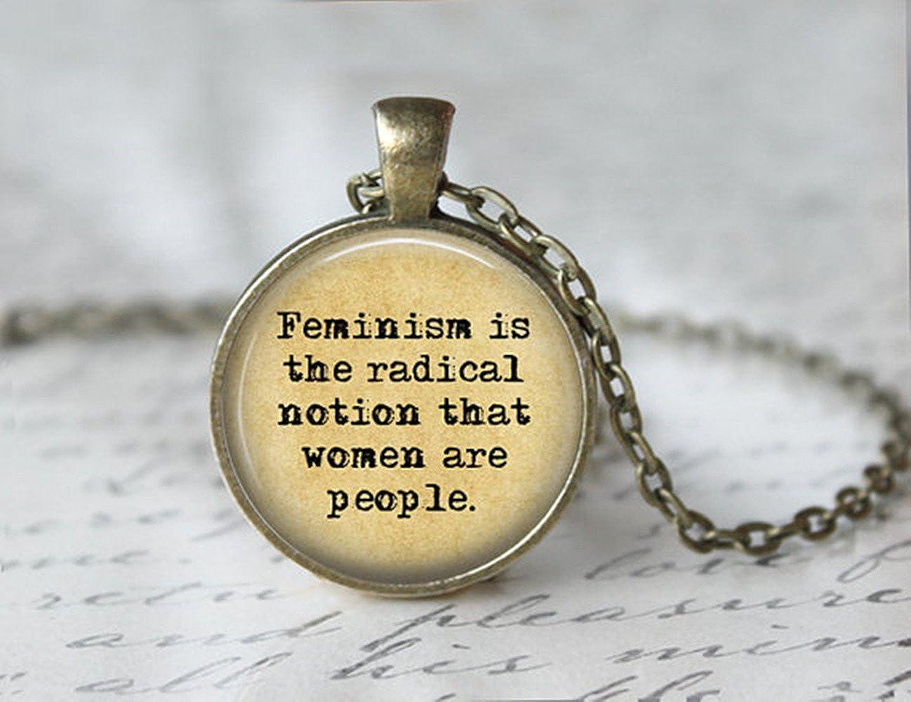 Feminism Jewelry - Feminist Necklace - Equality Necklace -Feminism Necklace yi sheng yi shi NE45