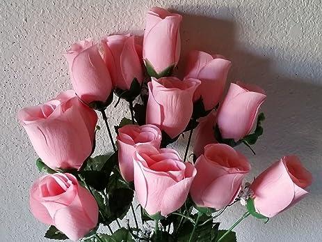 Amazon light pink velvet rose bush silk flower bush home kitchen light pink velvet rose bush silk flower bush mightylinksfo