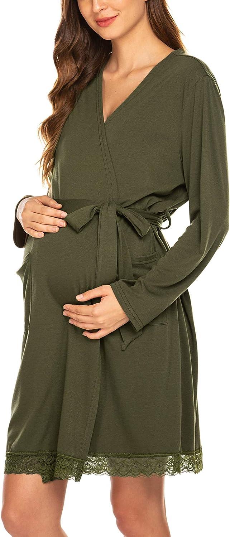 Maternity Robe Maternity Gown Nursing Gown Gift for Mom Maternity Robe, Hospital Gown R011 Baby Shower Gift Nursing Robe