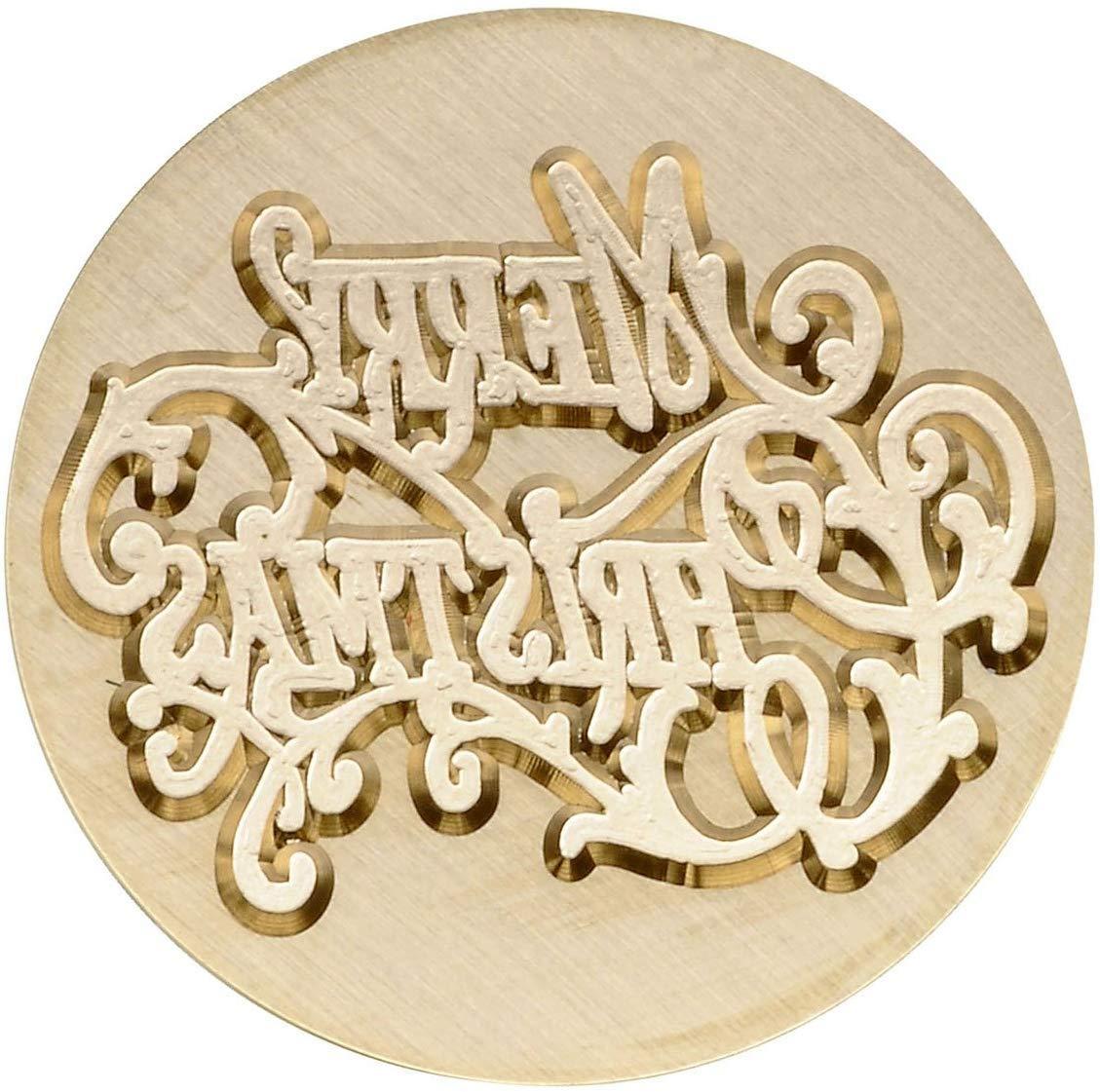 #1 Merry Christmas Mogokoyo Weihnachten Rosenholz Wachs Siegelstempel Set Dekorativer Siegel Petschaft Holzgriff Brief mit verschidene Gravur f/ür Weihnacht Hochzeit