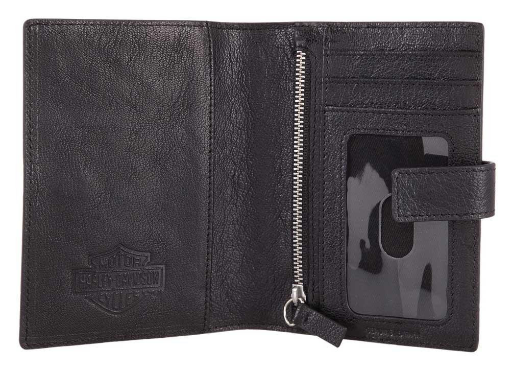 Harley-Davidson Bar & Shield Classic Passport Wallet, Genuine Leather HDMWA11490 by Harley-Davidson (Image #2)