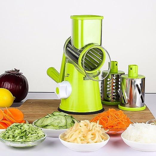 Manual Mandolin Round Vegetable Cutter Slicer Fruit Julienne Carrot Grater