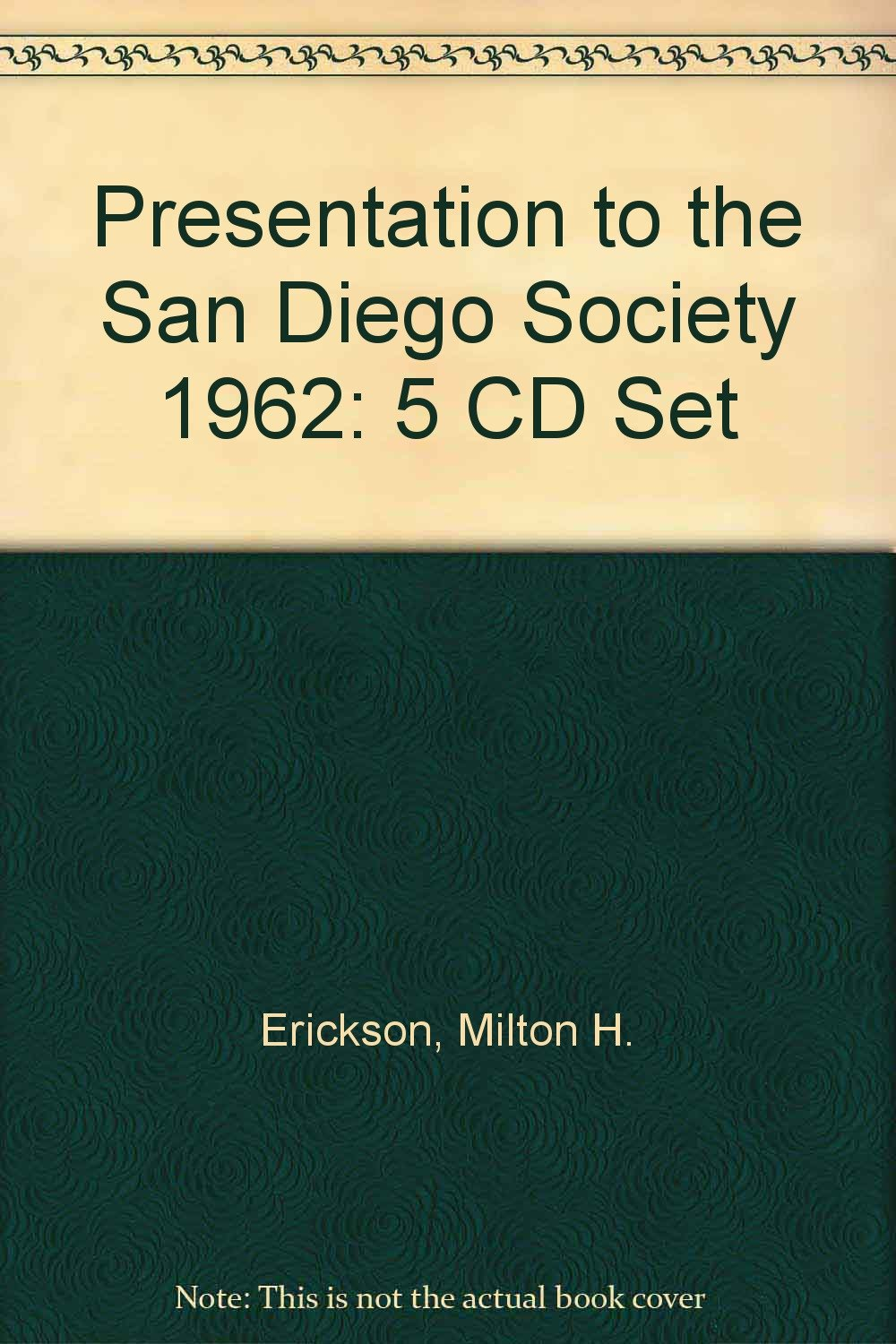 Download Presentation to the San Diego Society 1962: 5 CD Set PDF