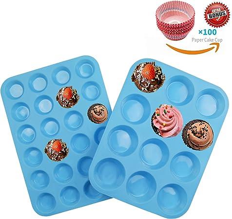 24er Silikon Muffin Backform Kuchen Muffinform Muffinförmchen Muffinbackform