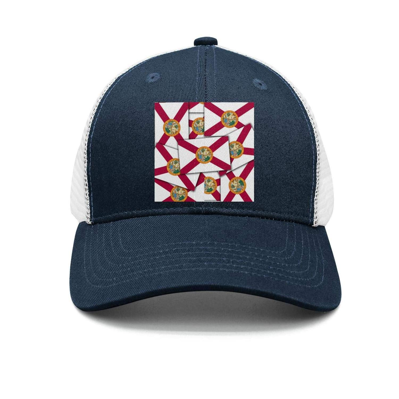AkrCreative Florida State Flag Multiple Men//Women Pattern Navy-Blue Snapback Cap Sports Hat