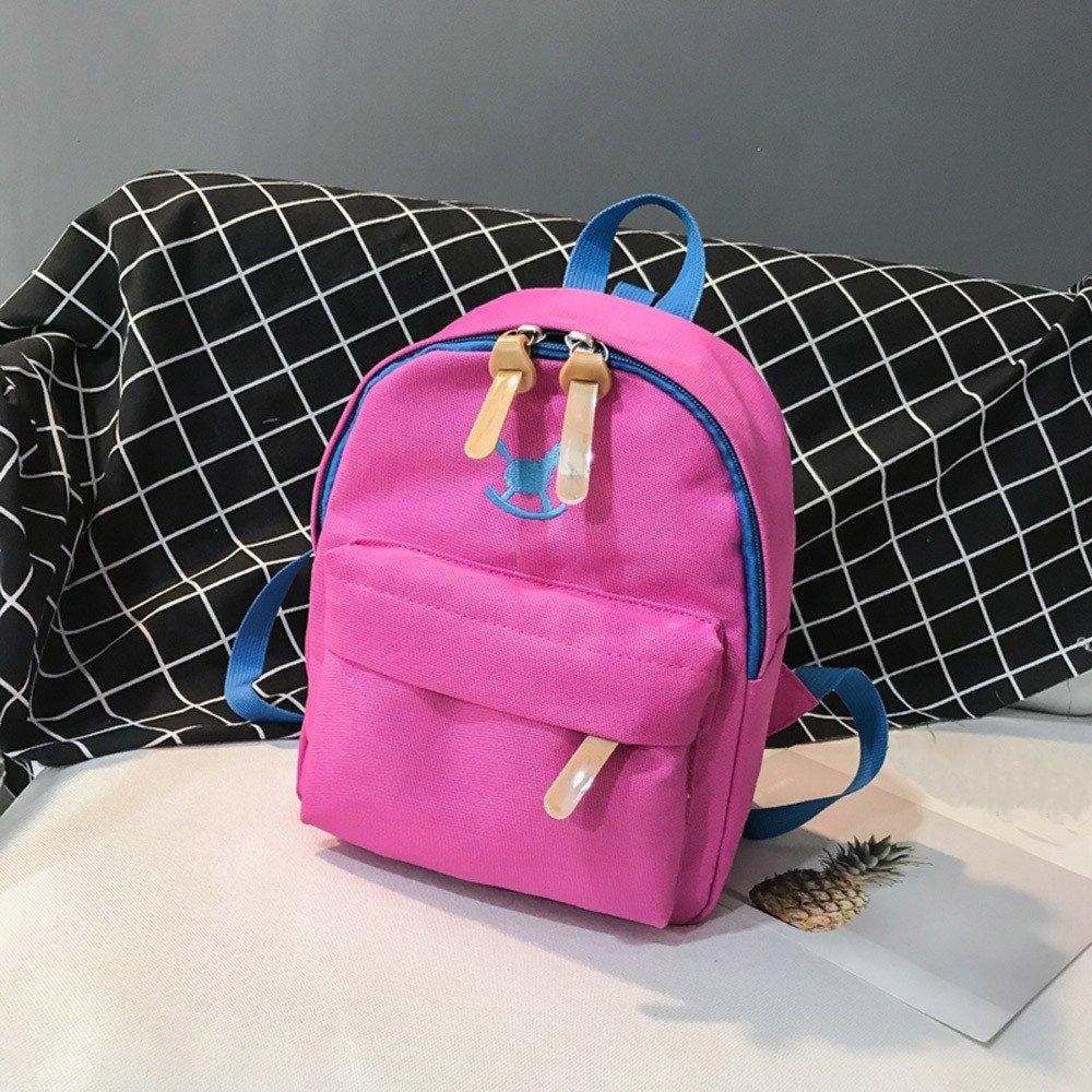 02d374d19de8 Child Baby Girls Boys Kids Horse Playful Animal Print Backpack Toddler  School Bag Multi Colored Student